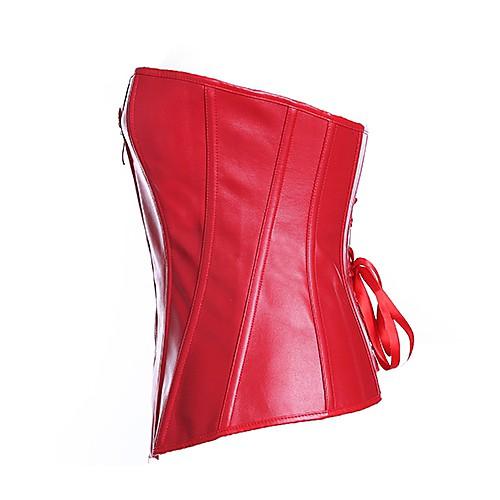 Дарлинг Одежда Женская Сексуальная Красная бретелек Сеть Оболочка искусственная кожа корсет Lightinthebox 644.000