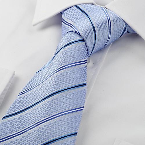 Поцелуй Tie Новый полосатый голубые жаккардовые Мужские Галстук Свадебная вечеринка Сувениры Lightinthebox 687.000