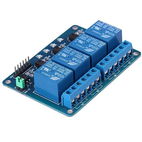 4 Линии 5 В Модуль реле черный и синий Lightinthebox 214.000