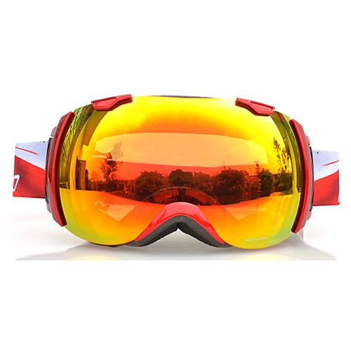 BASTO Лыжные защитные очки в красной оправе с оранжевыми зеркальными линзами Lightinthebox 1890.000