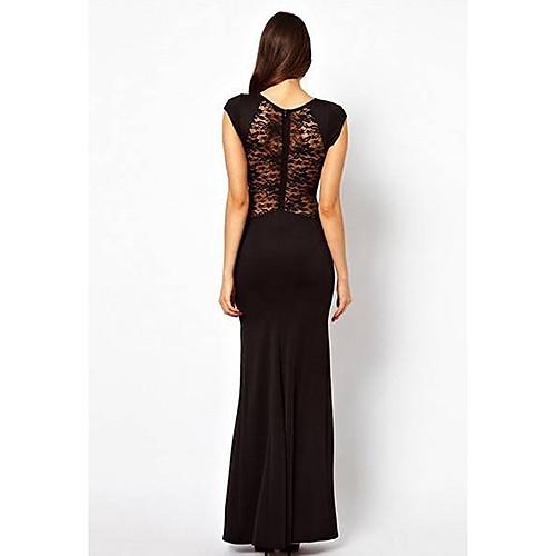 Европа Slim Fit вырез Кружева Вечернее платье В.С. женский стиль (черный) Lightinthebox 2576.000