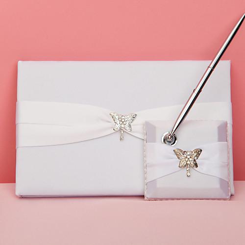 бабочка история свадебного гостевая книга и перо набор Lightinthebox 848.000