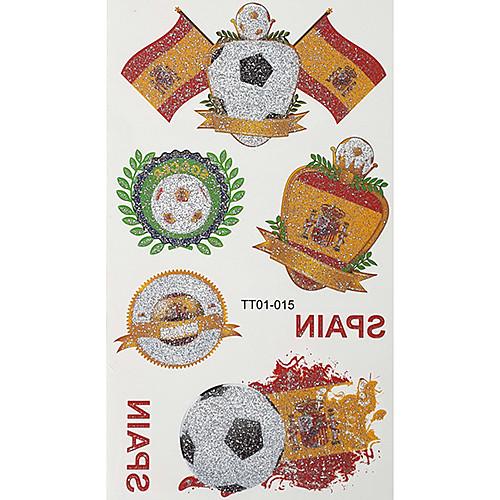2шт Футбол Pattern Испания Кубок мира Водонепроницаемый татуировки тела Временная Блеск Стикеры Lightinthebox 214.000