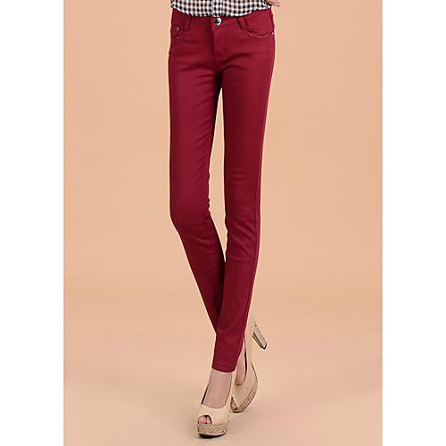 TS Простота Эластичность Тощий Темно-красный повседневные брюки карандаш Lightinthebox 809.000