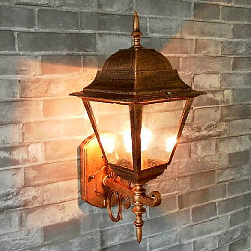 Открытый настенный светильник, 1 Легкий, Классический Vintage Алюминий Стекло Живопись Lightinthebox 2148.000
