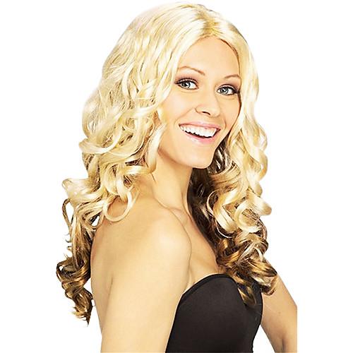 Необычные Бал Синтетический парик партии длинными вьющимися Волнистые (Золотой русый) Lightinthebox 1288.000