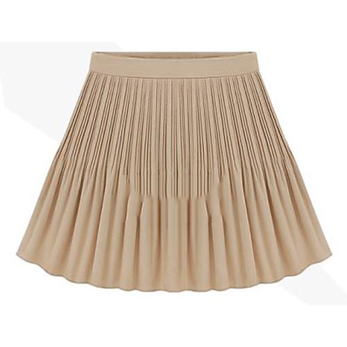 Женская Винтаж Высокая талия Pleat Подол шифон юбка Lightinthebox 641.000