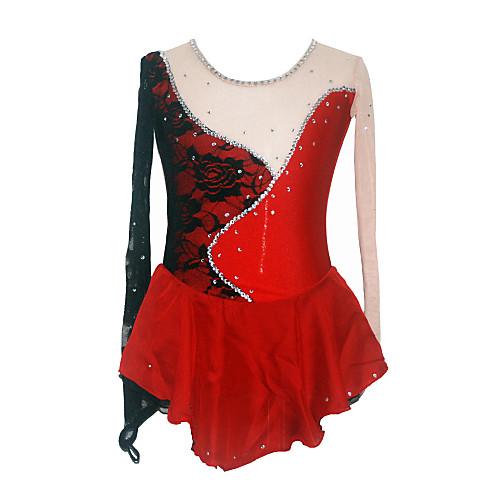 Высокая Spandex Девушка по фигурному катанию платье (черный  красный) Lightinthebox 6445.000