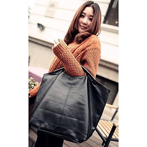 BABEINI Женская Простой заклепки одно плечо сумка (черный) Lightinthebox 644.000