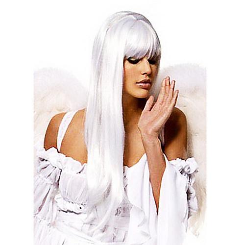 Необычные Бал Синтетические партия Угол Длинный прямой парик (серебро) Lightinthebox 1288.000