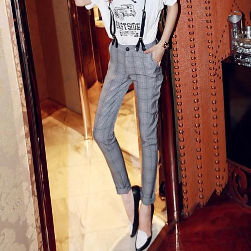 Новое прибытие Мода Англия Стиль сетки ремни повседневные брюки Lightinthebox 1228.000