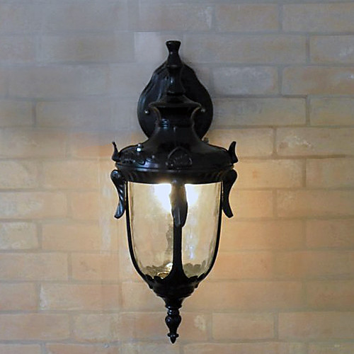 Открытый настенный светильник, 1 свет, классический алюминиевый Стекло Живопись Lightinthebox 3437.000