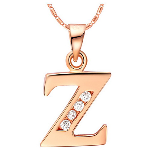 Мода Z-Логотип сплава Женская ожерелье с Rhinestone (1 шт) (золото, серебристый) Lightinthebox 192.000