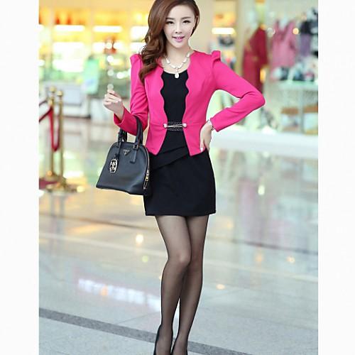 Женская Slim Fit Bodycon жилет платье Костюм (платье  Верхняя одежда) Lightinthebox 1451.000