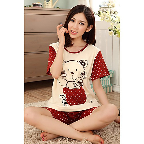 Женская Panda Pattern горошек пижама Lightinthebox 837.000