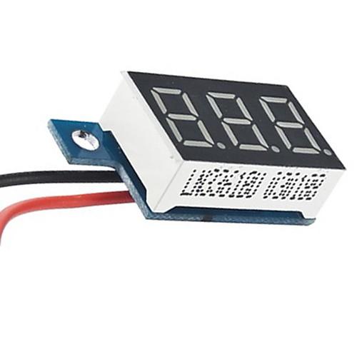 Цифровой вольтметр DC 3.3V-17V 100% Brand New и высокое качество Lightinthebox 128.000