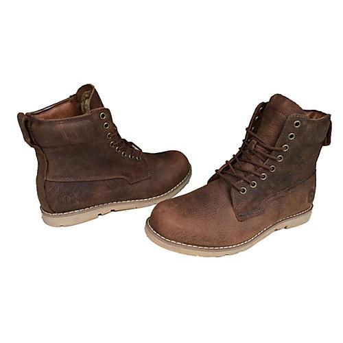 Мужские кожаные плоский каблук лодыжки Combat сапоги с шнуровке Lightinthebox 2577.000