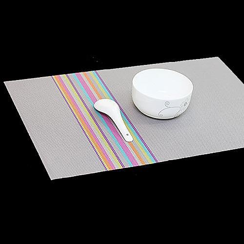 Мода Просто стиль ассорти Цвет Полосатый коврик на ужин, L45cm х Ш 30 см, жаропрочных ПВХ Lightinthebox 171.000
