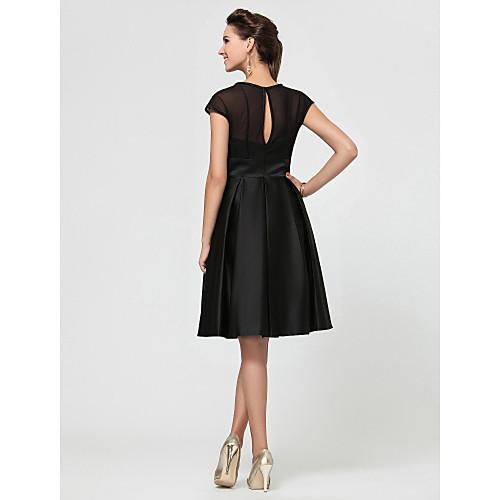 Платье для свидетельницы по колено с А-силуэтом из шифона и сатина Lightinthebox 2921.000