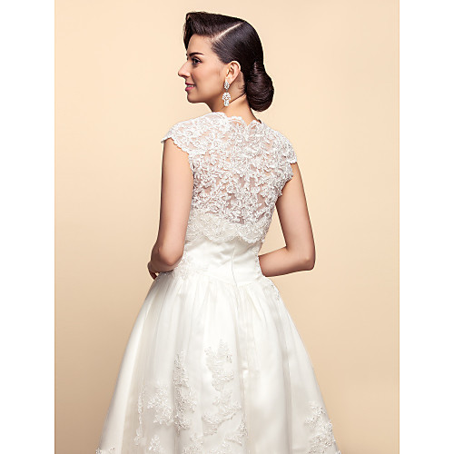 Короткие рукава кружево свадьба / партия куртки / обертывания Lightinthebox 1546.000