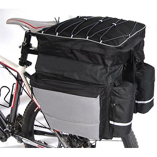 Сумка велосипедная водонепроницаемая из нейлона 3-в-1 (большой размер, черный) Lightinthebox 2148.000