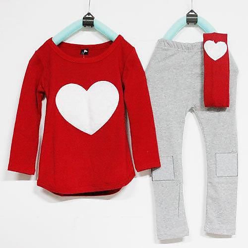 Круглым воротом Сердце Одежда Наборы для девочек-подростков Lightinthebox 1288.000