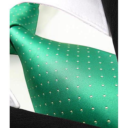 Мужская повседневная Точки Зеленый шелковый галстук Lightinthebox 644.000