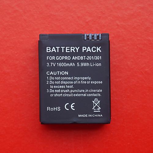1600mAh аккумулятор для GoPro Hero 3 ahdbt-201/301