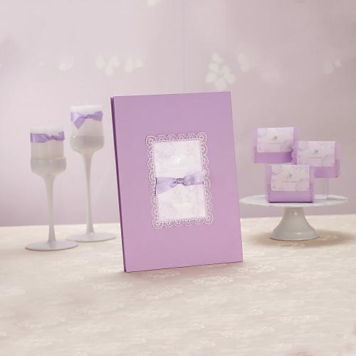 Романтический Сирень Гостевая книга с бантом (5 страниц) Lightinthebox 591.000