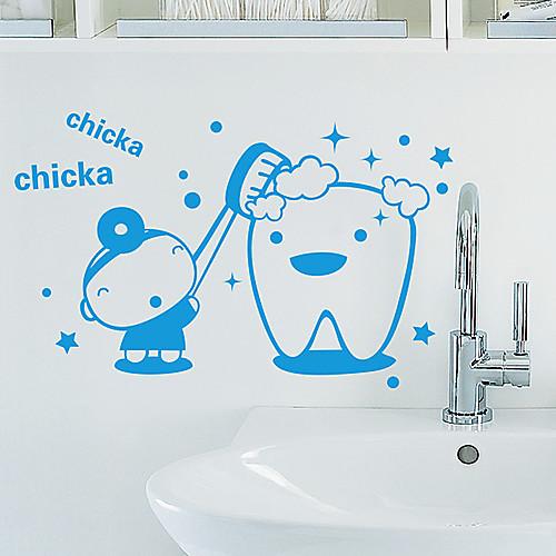 Мультфильм зубная щетка стены стикеры Lightinthebox 644.000