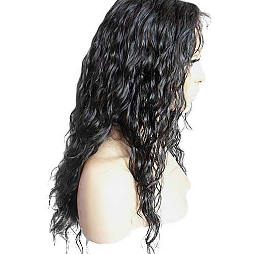 18 дюймов Горячие Продажа красоты 100% индийский парик человеческих волос полный шнурок Lightinthebox 10011.000