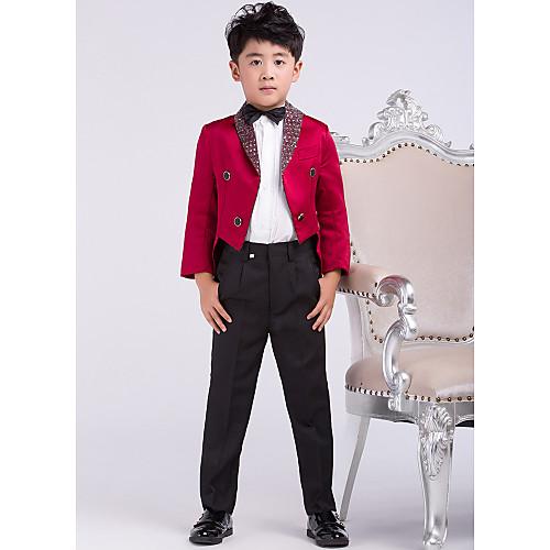 молодой парень одежда бордовый ласточкин хвост кольцо на предъявителя костюм (1219366) Lightinthebox 2148.000