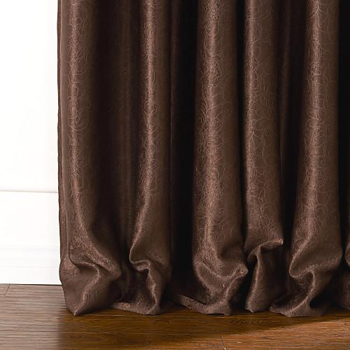 (две панели) современный фантазии коричневый цветочным тиснением затемнение занавес Lightinthebox 2577.000