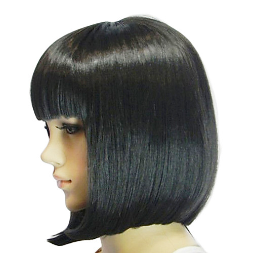 Черный короткий прямой синтетический парик Lightinthebox 730.000
