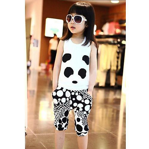 Мода для девочек Наборы Прекрасный Лето Две пьесы Устанавливает комплект одежды Lightinthebox 901.000