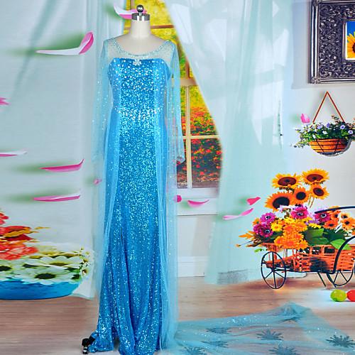 Forzen Королева Эльза Синий блестка Женская Halloween Party Костюм Lightinthebox 4124.000