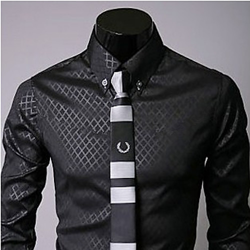 U & F Мужская Бизнес Черная Рубашка Lightinthebox 601.000