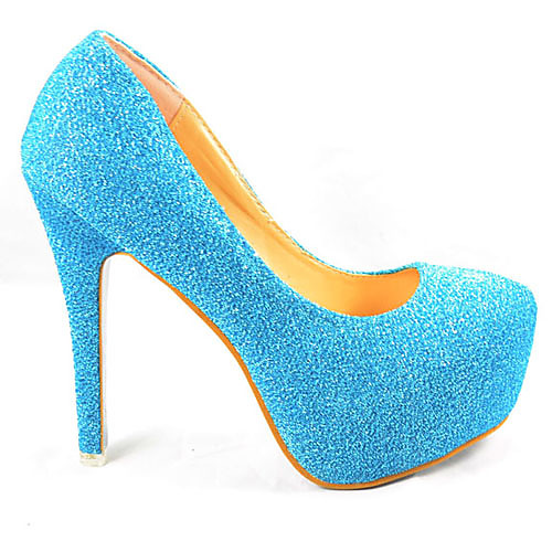 Замороженные Снежная королева Принцесса Эльза Синий блестка Косплей туфли на высоком каблуке Lightinthebox 2405.000