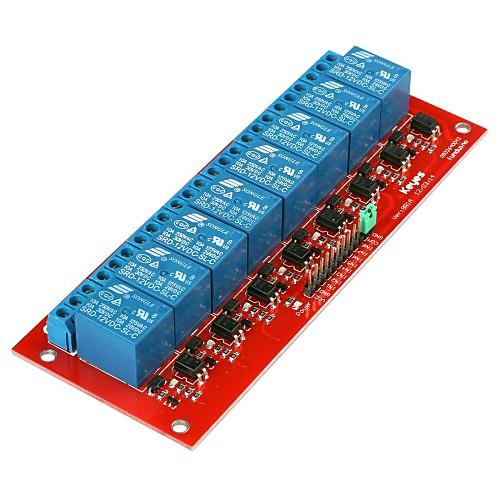 Новый модуль 12V реле 8-канальный синий и красный Lightinthebox 429.000