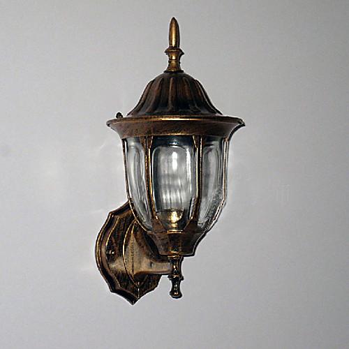 Открытый настенный светильник, 1 Свет, традиционный алюминиевый Стекло Живопись Lightinthebox 1718.000
