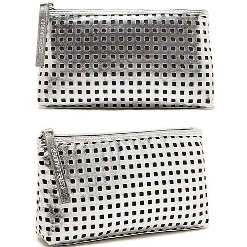Портативный Квадрат Серебряный Ослепительная Сияющий полый сцепления Cosmetic Bag Макияж сумка для хранения Lightinthebox 203.000