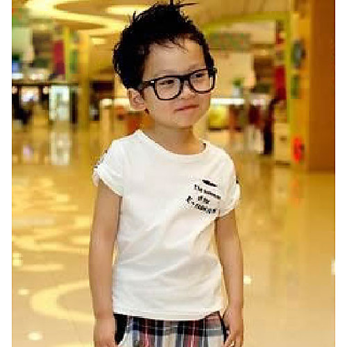 Мальчика Проверить Печать Повседневная коротким рукавом Одежда наборы Lightinthebox 601.000