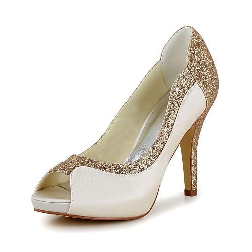 женская обувь с открытым носком шпилька сатин насосы свадебные туфли больше цветов (lightinthebox) Атырау