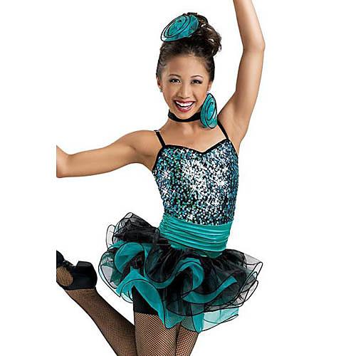 Танцевальная пачка балет красивая органза блестками спандекс платье танец детский Lightinthebox 2827.000
