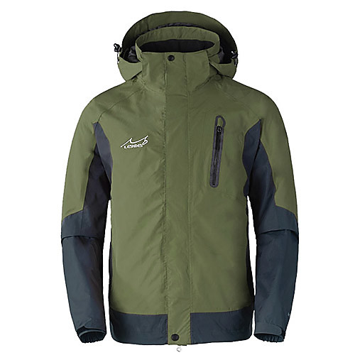 Lesndes Мужская Съемная Warmkeeping непромокаемую куртку Lightinthebox 4296.000