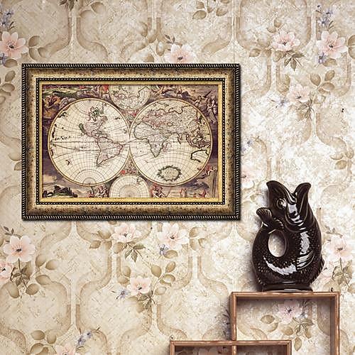 Карта мира подставил Печать холст Lightinthebox 2148.000