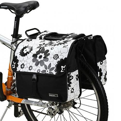 Велоспорт ПВХ печати Холст износостойких 28L большой емкости Мода на открытом воздухе велосипед назад подушку безопасности Lightinthebox 2148.000