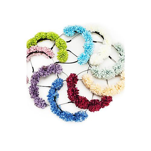 Пять цветов металла и шелковое подвенечное / Цветочница Венок / Ободки (больше цветов) Lightinthebox 386.000