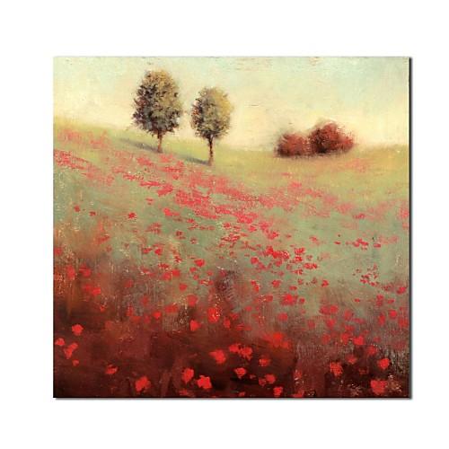 Ручная роспись маслом Пейзажная Hillside Secenery с растянутыми кадров Lightinthebox 3866.000