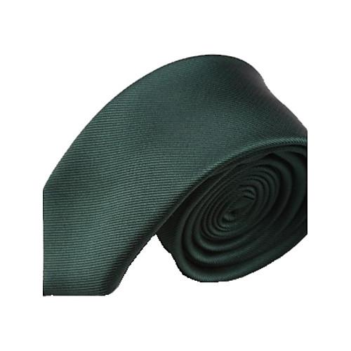 Мужская Твердое Цвет темно-зеленый Узкий микрофибры Галстук Lightinthebox 687.000